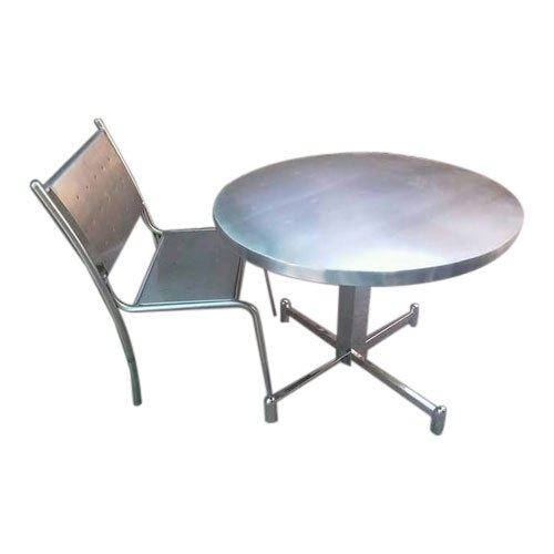 Powder Coated Stainless Steel Round Restaurant Table
