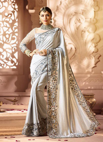 7537fa6dc1 Designer Multi Work Sarees For Wedding Function, Length: 6 M, Rs ...