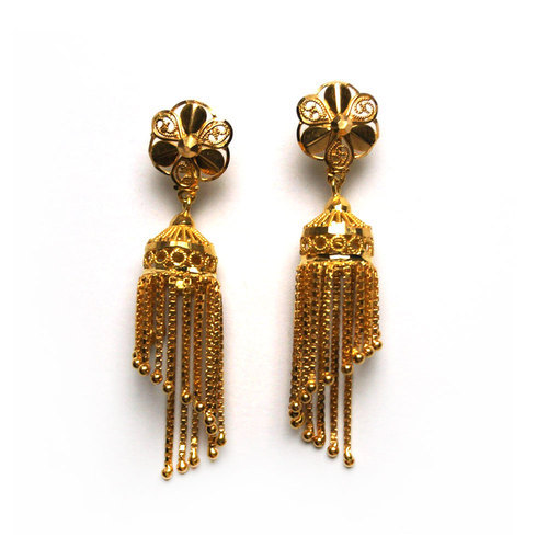 Gold Chain Jhumka At Rs 19200 Piece Gold Jhumkas Id 14452053612