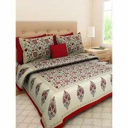 Dashing Look Cotton Designer Bedsheet