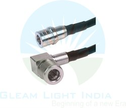 RF Cable Assemblies QMA Male Straight To QMA Right Angle In RG 174