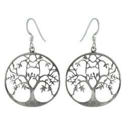 Life of Tree 925 Sterling Silver Filigree Earrings