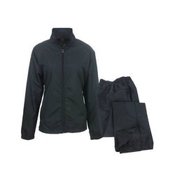 Nylon Rain Suit Black Fabric