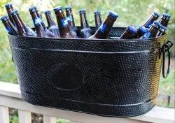 Galvanized Black Color Beverage Party Tub