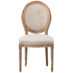 Wooden Mesh Design Dining Chair