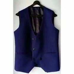 Blue Plain Mens Waist Coat