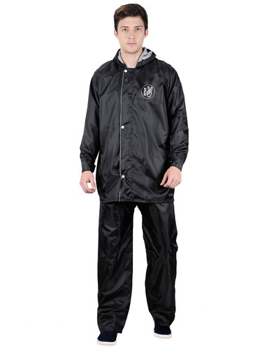 7e3d81ec8 Black Polyester Solid Raincoats (L-5XL Size), Rs 450 /piece | ID ...