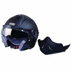 Black Fiberglass Studds Downtown Full Helmet, Packaging Type: Box, Size: Xl