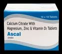 Calcium Citrate, Zinc Magnesium, Vitamin D3(Ascal) Tablet