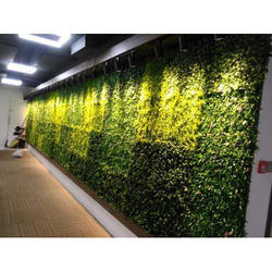Green Plastic Artificial Vertical Wall, Size: 1 Sqm To 10000sqm