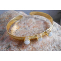 Brass Handmade Gold Plated Gemstone Bangles