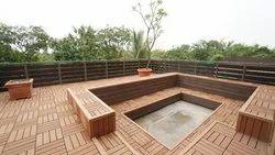 Waterproof WPC Outdoor Decking Tiles