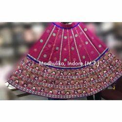 Gujrati Lehenga Chunni Blouse Set Umbrella Gher
