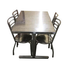 79e7a0a77a Silver Stainless Steel Dining Table Set, Rs 12000 /set, Gen X ...
