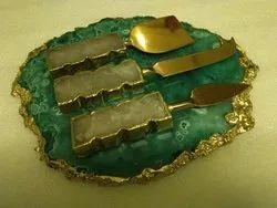 Agate Platter Cutlery Set