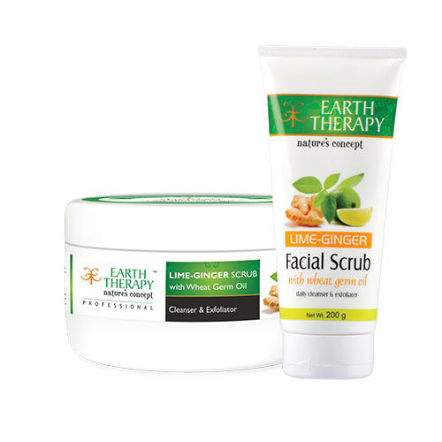 Lime-Ginger Herbal Face Scrub