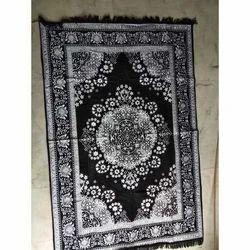 Designer Black Carpet, Size: 5x7 Feet