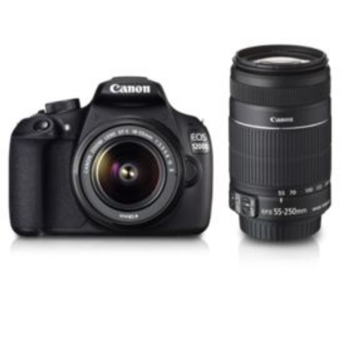 Black EOS 1200D Dual Kit Camera, Canon Image Square | ID
