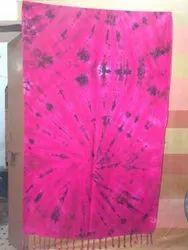 Casual Wear Poplin Silk Tie Dye & Shibori Fabric, GSM: As Agreed
