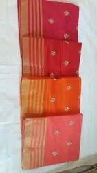 Formal Wear Kota Doria Embroidery Saree