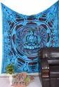 Blue Buddha Print Wall Tapestry
