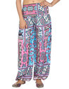 Women's Multi Color Rayon Yarn Dyed Trouser Formal Pants