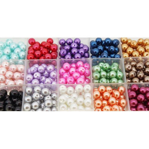 Round Pearl Colorful Beads, Size: 1-10 Mm