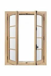 Brown Casement Wooden Window