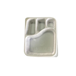 Plastic Disposable Food Tray : 4 CP