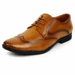 Tan Lace Up Designer Leather Shoes