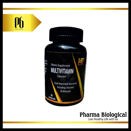 Dietary Supplement Multivitamin Capsules, Packaging Type: Plastic Bottle, Pharma Biological