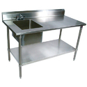 SS Table with Sink Unit