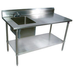 DEW Stainless Steel SS Table with Sink Unit