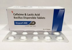 Cefixime 200mg, Lactic 60 Mg Acid Bacillus Dispersible Tab
