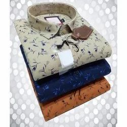 Mens Fancy Party Wear Printed Shirt, Packaging Type: Box