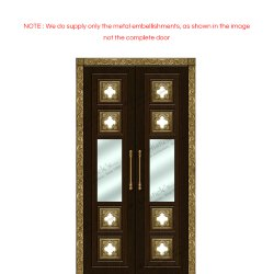 pooja room door with glass