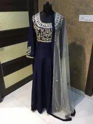 Navy Blue Designer Party Wear Gown