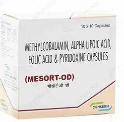 MESORT-OD (Mecobalamin ,Alpha lipoic Acid ,Folic Acid & Pyridoxine HCl Capsules))