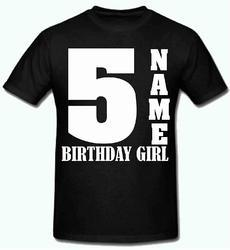 93305bb1b Black Sprinklecart Ideal Name Printed Birthday T Shirt, Rs 290 ...
