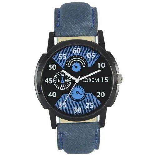 1e1052b01346 Lorem LR-02 Mens Leather Strap Wrist Watch