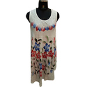 Round Neck Printed Rayon Dress