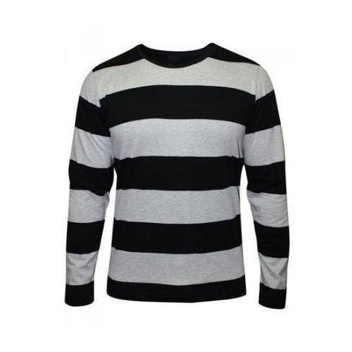 M And L Mens Striped Full Sleeve T-Shirt 223743696