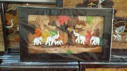 Kalaaplanet Elephant Rosewood 3D Painting