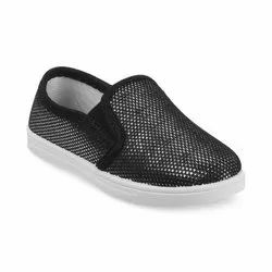 KTG814 Black Kids Slip On Shoes