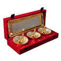Corporate Gifts Silver & Gold Plated Bowl Set