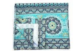 Indian Block Print Cotton Kantha Quilt Handmade Blanket Bedspread Throw King Size