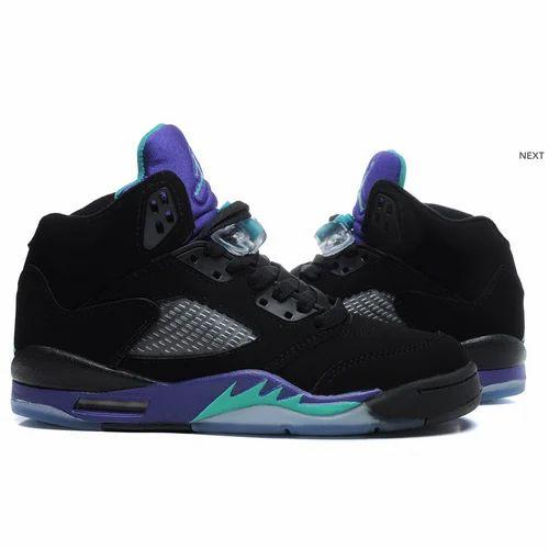 Men Air Jordan Purple Black Shoe, Rs