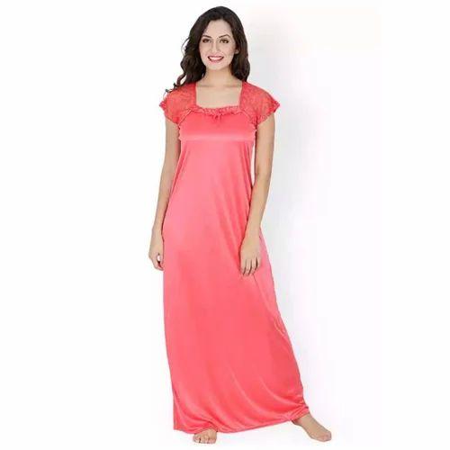 3545458ef16 Ladies Half Sleeves Full Length Plain Maxi