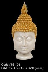 Buddha Head Med Ts-02, Polyresin And  Washable Statue