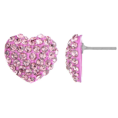 Imported Heart Stud Earring